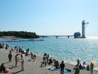 大连星海公园浴场图片