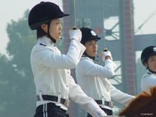 大连女骑警训练基地图片
